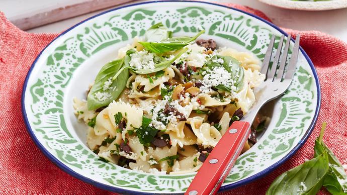Kalamata olive and herb pasta