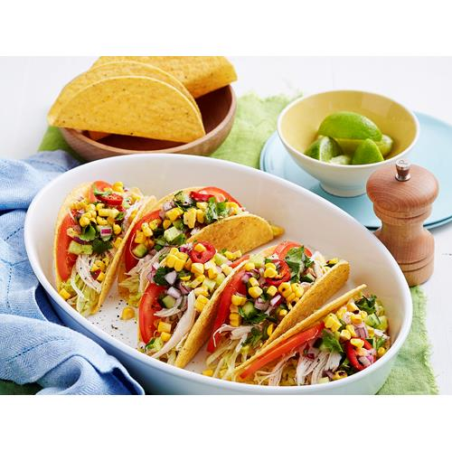 Chicken Tacos With Spicy Cucumber Salsa Recipe Food To Love