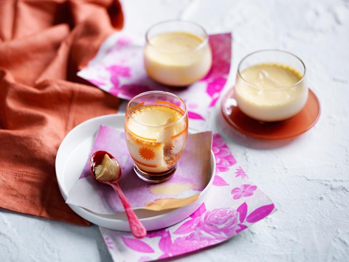 "Consider yourself a bit of a sweet tooth? Then you will love these **[baked lemon caramel custards](https://www.womensweeklyfood.com.au/recipes/baked-lemon-caramel-custards-29339|target=""_blank"")**. Sweet, creamy and delicious!"
