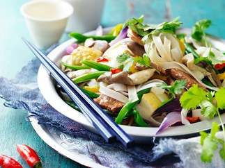 Pork and tofu rice noodles