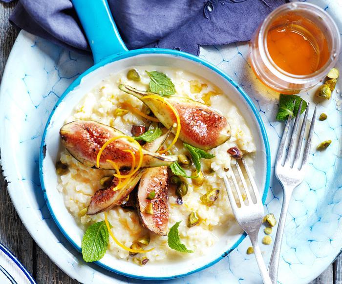 Fig and orange blossom rice pudding