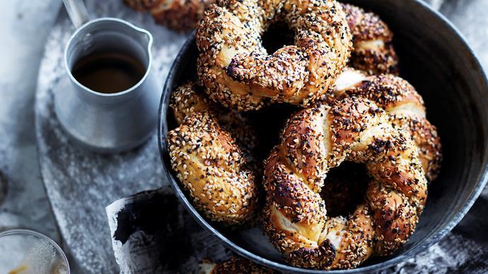 Sesame Turkish ring breads