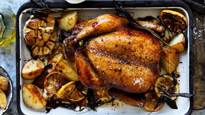 Delicious roast chicken dinners