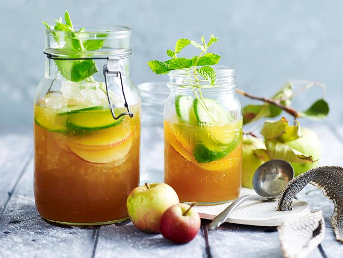 "[Apple Pimm's cocktail recipe.](http://www.foodtolove.com.au/recipes/apple-pimms-27408|target=""_blank"")"
