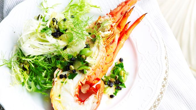 Lobster with fennel salad