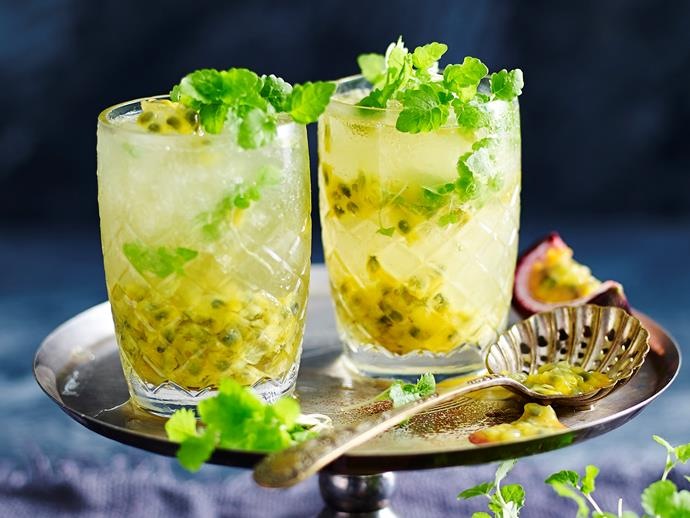 "Cool down with these delicious [passionfruit and pineapple spritzers](https://www.womensweeklyfood.com.au/recipes/passionfruit-and-pineapple-spritzer-29377|target=""_blank"") - perfect for a warm Summer day!"