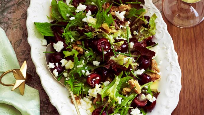 Cherry, walnut and feta salad