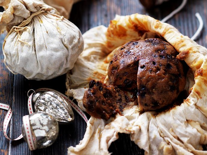 "**Individual boiled Christmas puddings** <br><br> Nothing says the festive season quite like Christmas pudding - dense, moist and loaded with delicious dried fruit. <br><br> [**Read the full recipe here**](https://www.womensweeklyfood.com.au/recipes/individual-boiled-christmas-puddings-29383|target=""_blank"")  <br><br>"