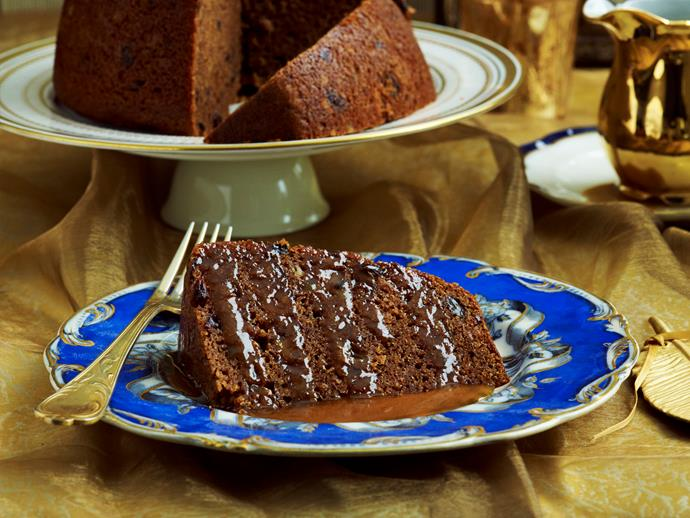 """**Sticky fruit pudding with caramel sauce** <br><br> This decadent sticky fruit pudding with a smooth and creamy caramel sauce is the perfect indulgence this jolly season! <br><br> [Read the full recipe here.](http://www.foodtolove.com.au/recipes/sticky-fruit-pudding-with-caramel-sauce-27424