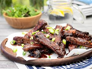 Sticky sesame ginger ribs