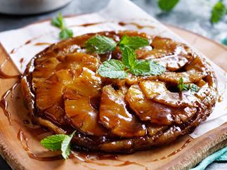Pineapple and cardamom tarte tartin