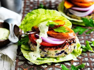 The green turkey burger