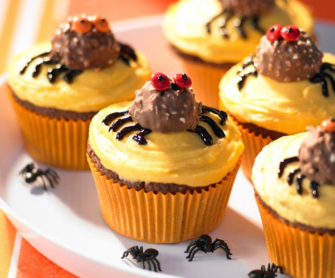 Scary chocolate cupcakes