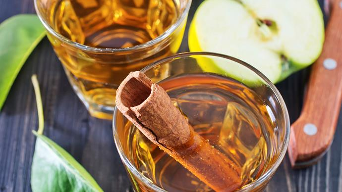Spiced apple syrup sipper