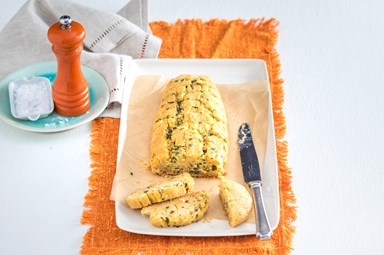 Free-form garlic bread