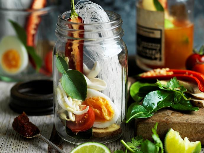 "**[Asian noodle soup in a jar](http://www.womensweeklyfood.com.au/recipes/asian-noodle-soup-in-a-jar-29436|target=""_blank"")**  Recreate authentic Asian flavours - fresh, wholesome and completely vegetarian."
