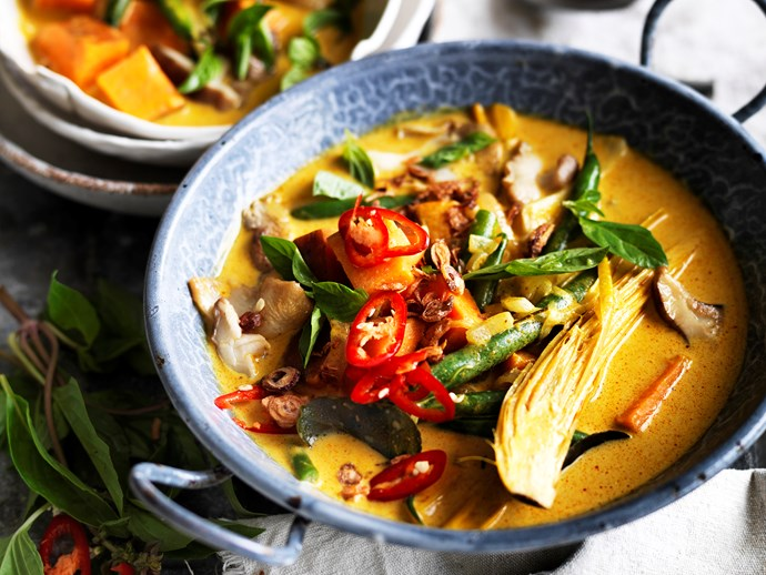 "Enjoy this [vegetarian Thai yellow curry](http://www.foodtolove.com.au/recipes/thai-yellow-curry-30854|target=""_blank"") made with turmeric"