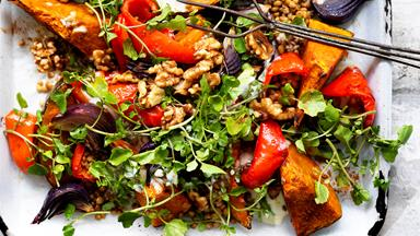 Lebanese roasted pumpkin salad
