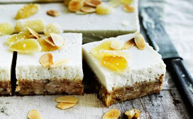 Ginger, coconut and almond slice