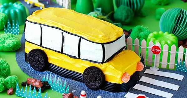 Sensational Big Yellow Bus Birthday Cake Australian Womens Weekly Food Personalised Birthday Cards Cominlily Jamesorg