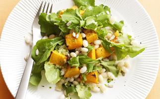 Pumpkin and white bean salad