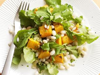 Pumpkin and white bean salad