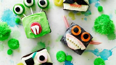 Scary monster cupcakes
