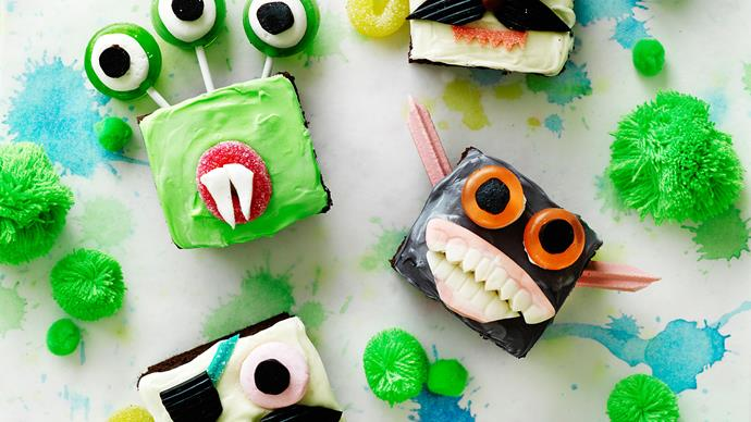 Halloween creepy monster cupcakes