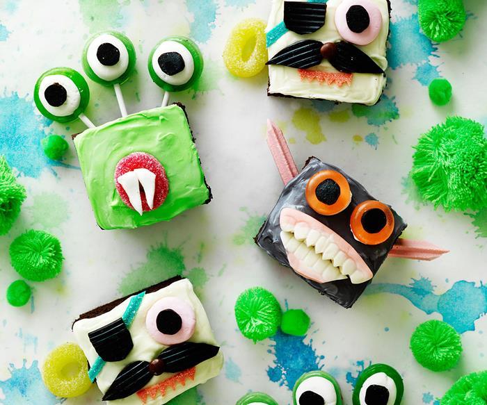 Halloween creepy monster cupcakes