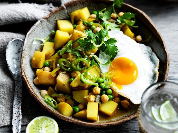 "[Sri Lankan potato and pea curry](https://www.womensweeklyfood.com.au/recipes/sri-lankan-potato-and-pea-curry-29474|target=""_blank"")"