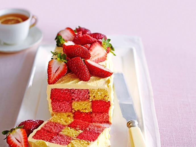 "**7. How many strawberries count as a portion?** a) eight b) 10 c) five [Strawberry chequerboard loaf](http://www.foodtolove.com.au/recipes/strawberry-chequerboard-loaf-30916|target=""_blank"")"