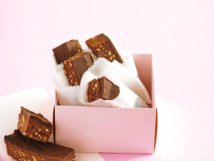 """**[Gluten-free hedgehog slice](https://www.womensweeklyfood.com.au/recipes/hedgehog-slice-29496