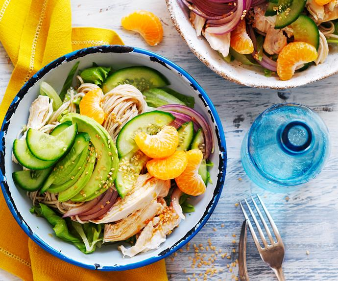 chicken and avocado lunch bowl