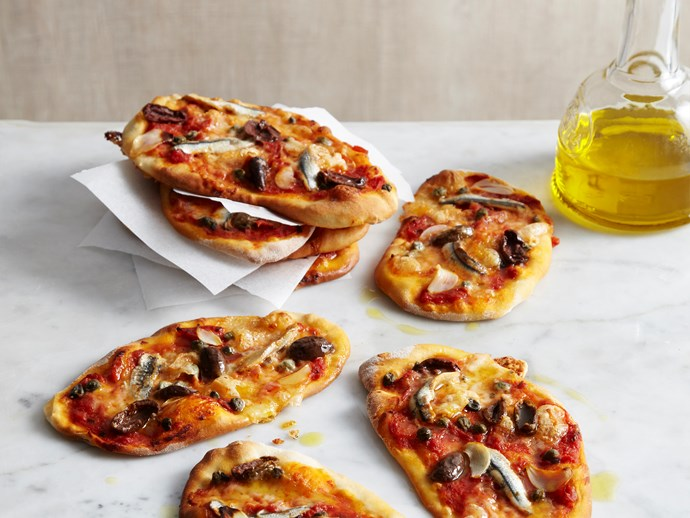 Puttanesca pizzettas