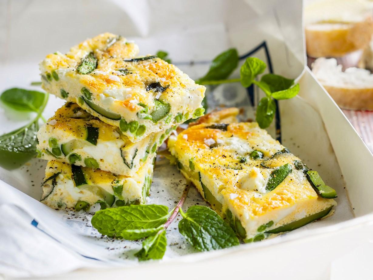 "[Asparagus and feta frittata](https://www.womensweeklyfood.com.au/recipes/asparagus-and-fetta-frittata-29507|target=""_blank"")"