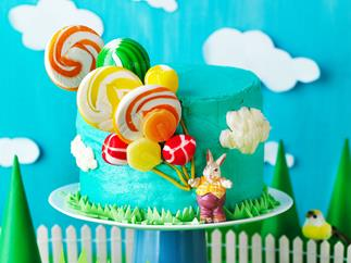 Lollipop balloon cake