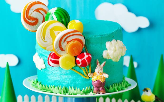 Lollipop balloon cake
