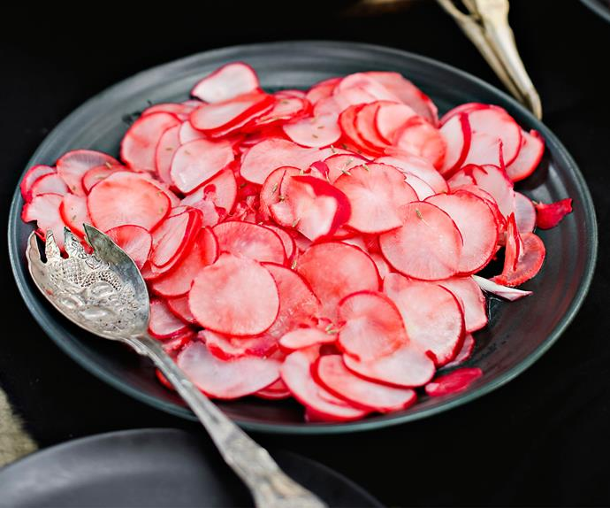 Instant pickled radish