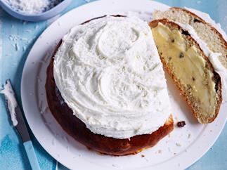 Boston bun with vanilla coconut frosting recipe