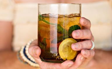Pimms garden cocktail