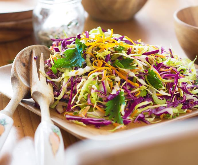 Colourful coleslaw recipe