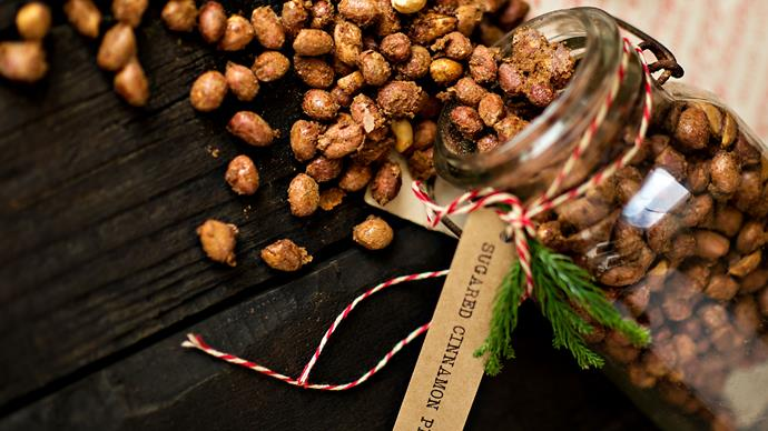 Sugared cinnamon peanuts recipe