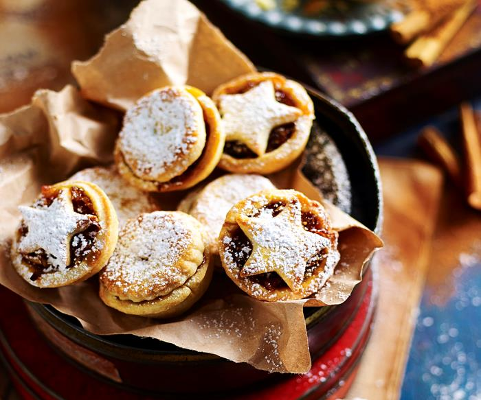 Fruit mince pies and treats for Christmas