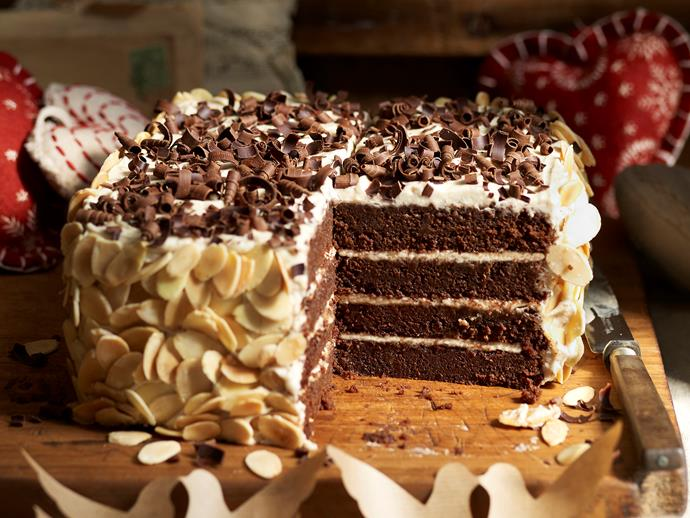 "**Chocolate chestnut cake** <br><br> This gorgeous layered cake is the perfect balance of sweet and nutty. It's the perfect celebratory cake to serve at Christmas time. <br><br> [**Read the full recipe here**](https://www.womensweeklyfood.com.au/recipes/chocolate-chestnut-cake-4338|target=""_blank"")"