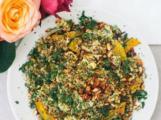 Quinoa & buttercup salad