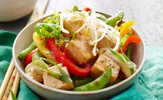 Tofu and chia stir-fry