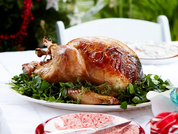 """**[Julie Goodwin's Christmas turkey with apricot and almond stuffing](https://www.womensweeklyfood.com.au/recipes/julie-goodwins-christmas-turkey-with-apricot-and-almond-stuffing-29562 target=""""_blank"""")**  Succulent juicy turkey with a mouthwatering apricot and almond stuffing. The perfect dish for Christmas lunch!"""