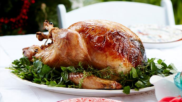 Julie Goodwin's Christmas turkey with apricot and almond stuffing
