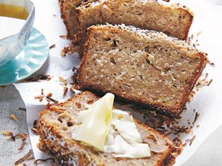 Coconut and banana bread