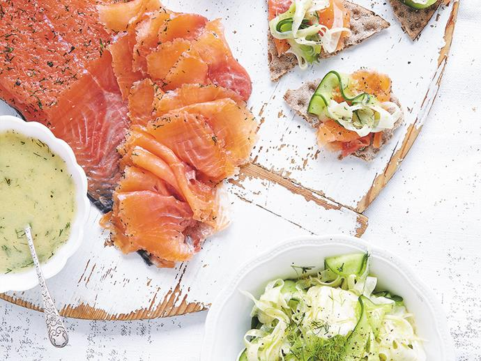 "[Gravlax with fennel and cucumber](http://www.foodtolove.com.au/recipes/gravlax-with-fennel-and-cucumber-31064|target=""_blank"")"